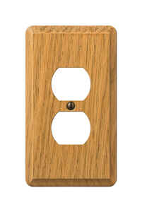 Amerelle  Contemporary  1 gang Wood  Duplex Outlet  Wall Plate  1 pk