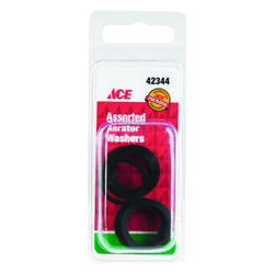 Ace  Assorted in. Dia. Rubber  Faucet Aerator Washer  5 pk