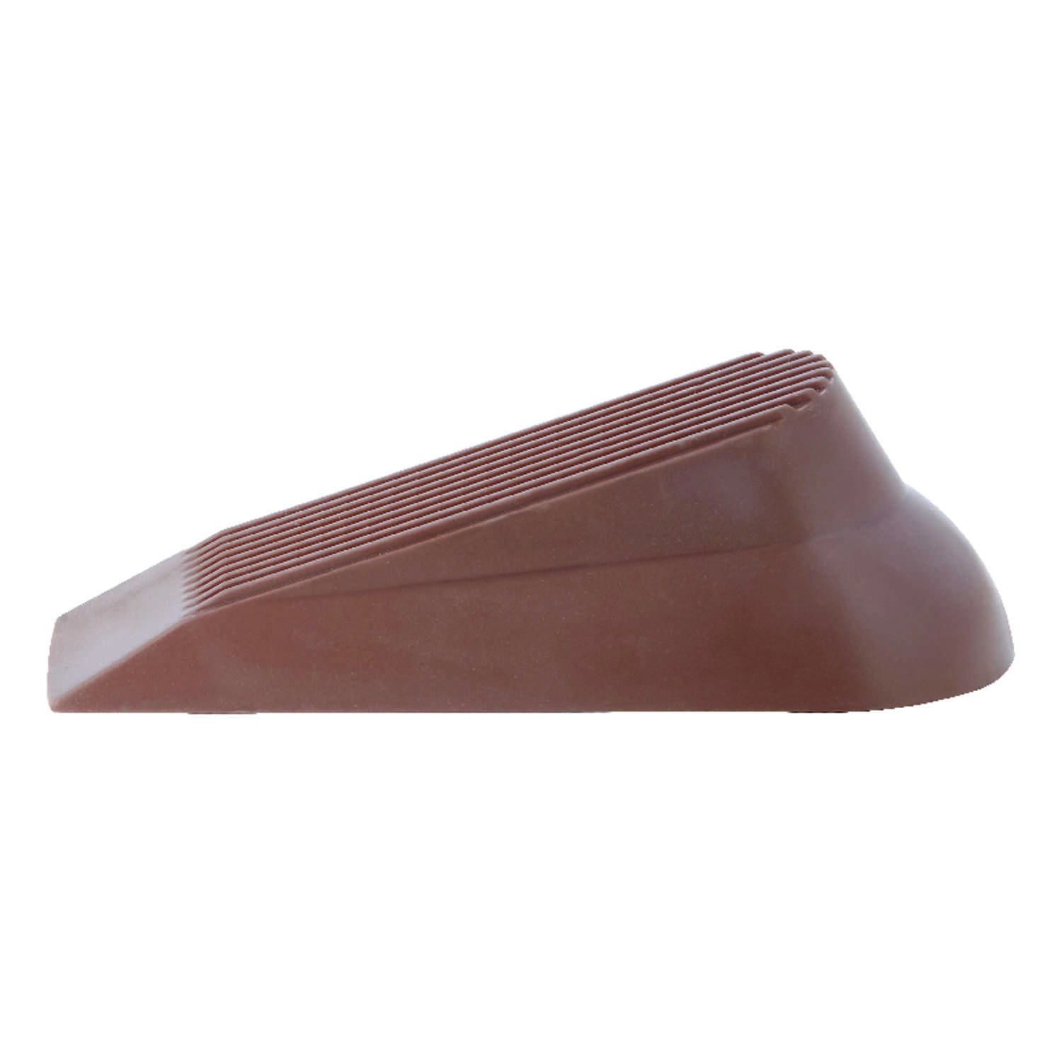 Ace  4.813 in. H x 5 in. W Rubber  Brown  Wedge Door Stop
