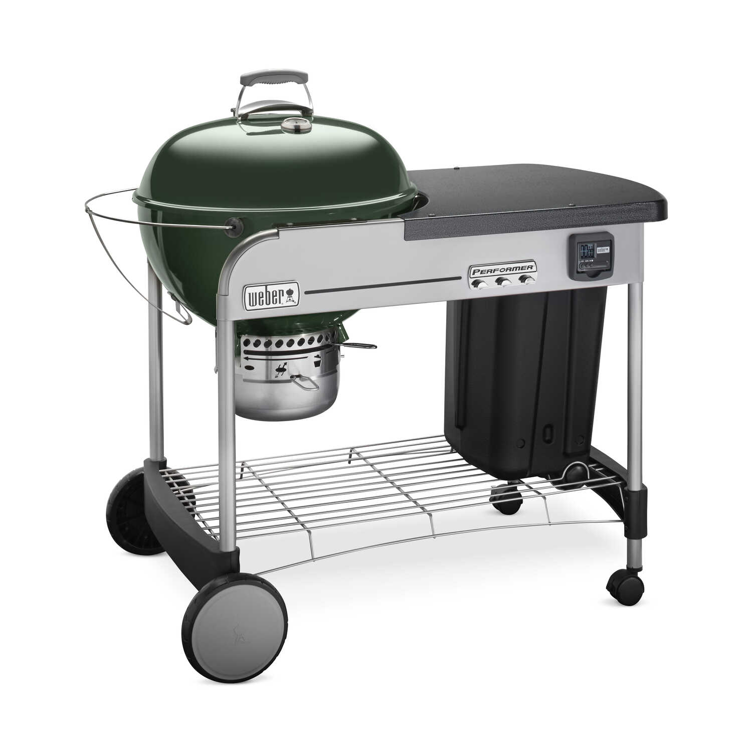 Weber  Performer Deluxe  Charcoal  Kettle  Grill  Green  22 in.