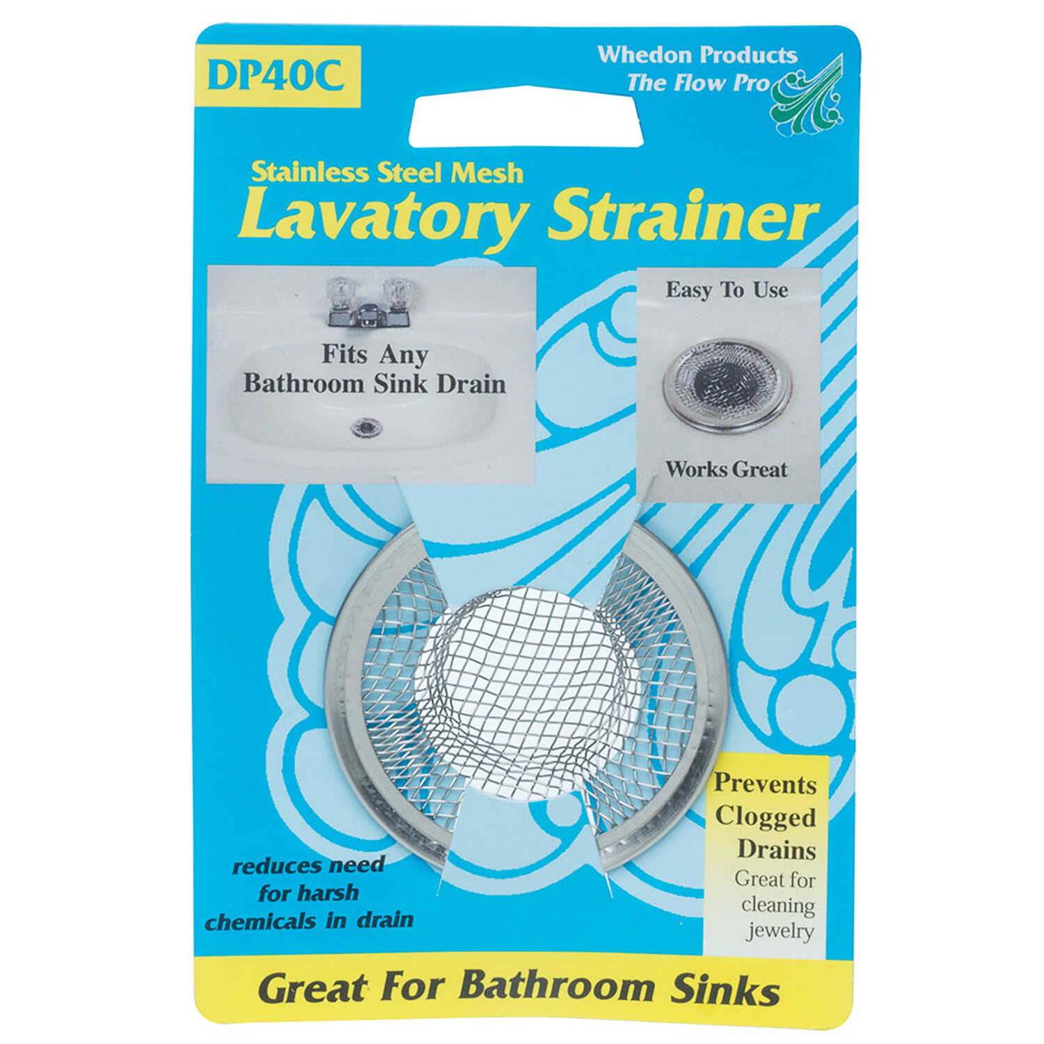 Whedon  2-3/4 in. Dia. Chrome  Sink Strainer