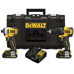 DeWalt ATOMIC 20V MAX 20 volt Cordless Brushless 2 tool Hammer Drill and Impact Driver Kit