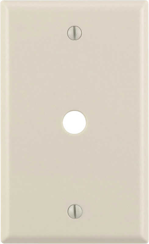 Leviton  Almond  1 gang Nylon  Cable/Telco  Wall Plate  1 pk