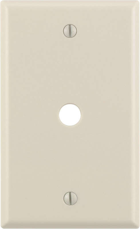 Leviton  Almond  1 gang Thermoset Plastic  Cable/Telco  Wall Plate  1 pk