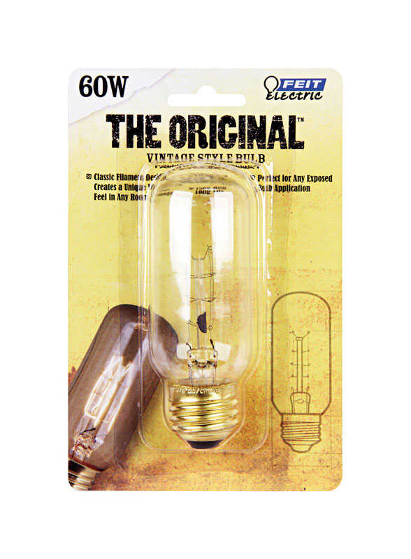 FEIT Electric  The Original  60 watts E26  Incandescent Bulb  150 lumens Soft White  Vintage  1 pk