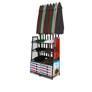 Bond Manufacturing  Black  Umbrella Base Display Rack