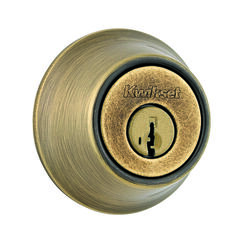 Kwikset  Antique Brass  Metal  Deadbolt