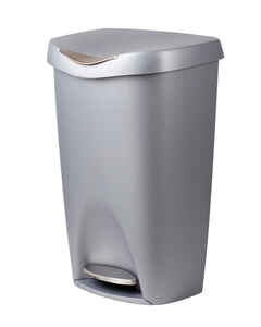 Umbra  13.2 gal. Gray  Brim Step On  Wastebasket