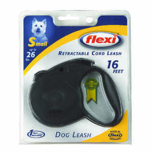 Flexi  Black  Nylon  Retractable Leash  Small