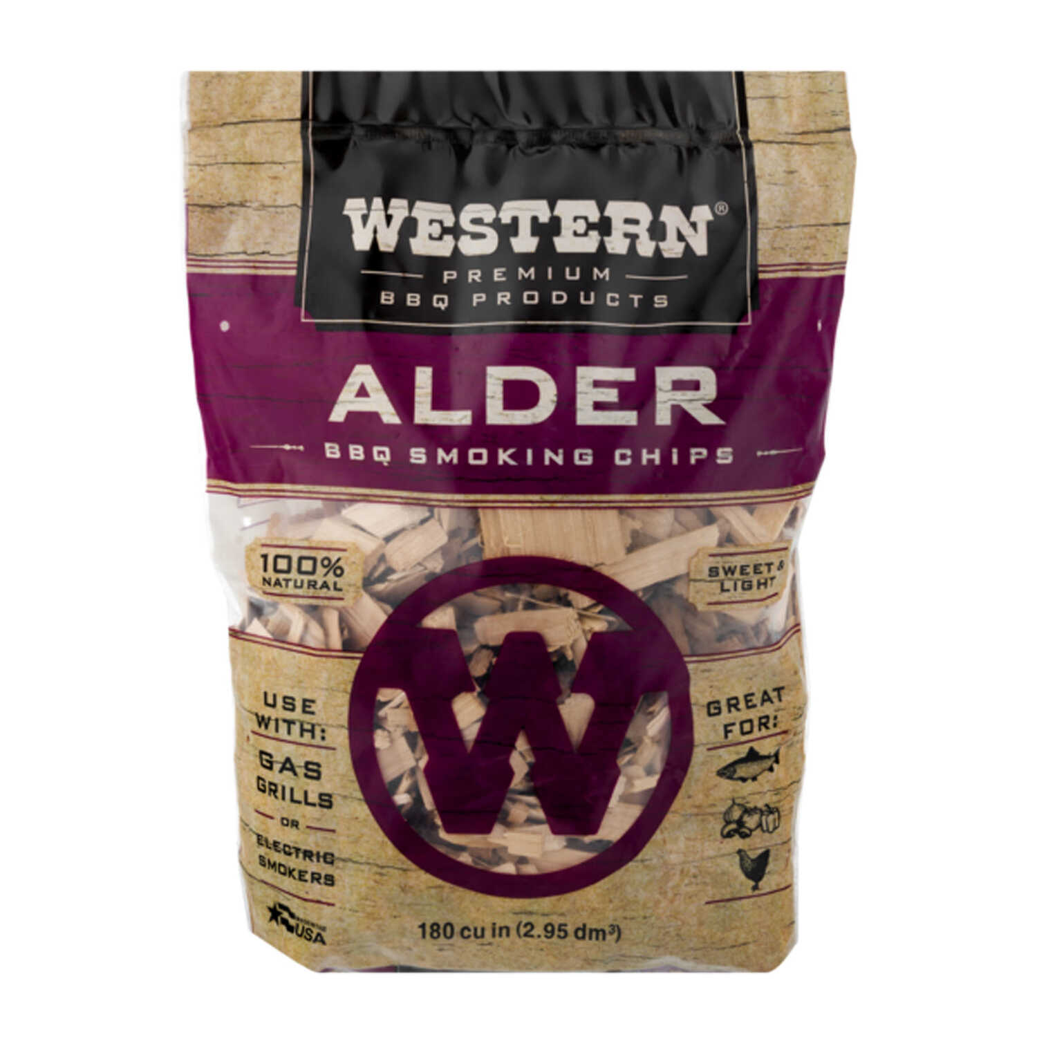 Western  Alder  Wood Smoking Chips  180 cu. in.