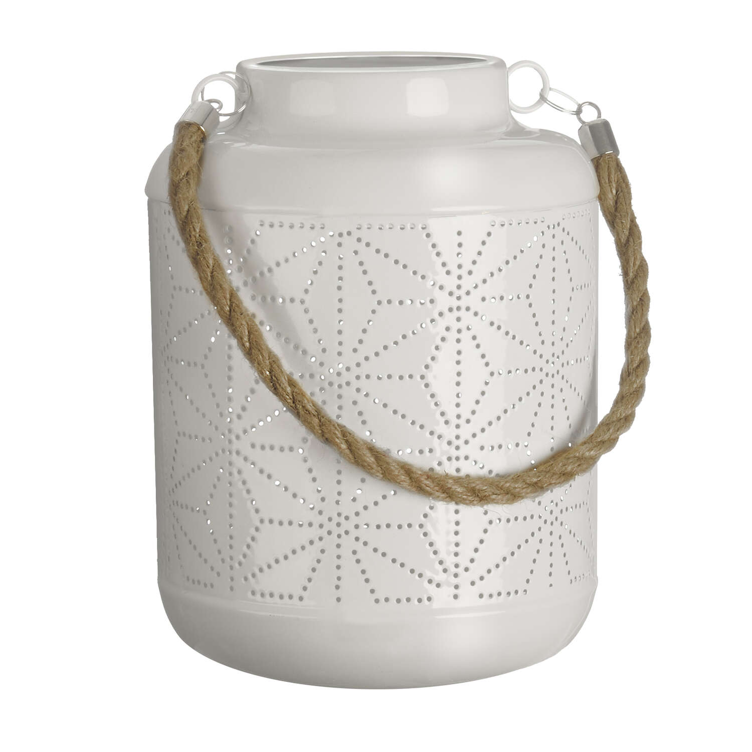 Paradise Lighting LED Metal Lantern White
