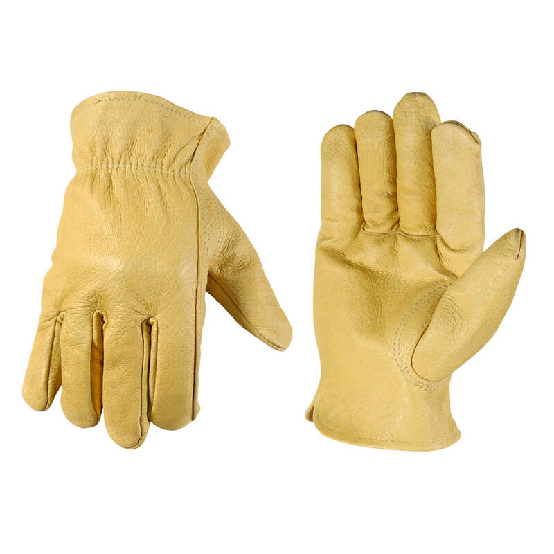 Wells Lamont  Men's  Leather  Driver  Work Gloves  Bucko  L