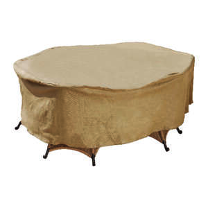 Budge  30 in. H x 112 in. W Tan  Polypropylene�  Table Cover