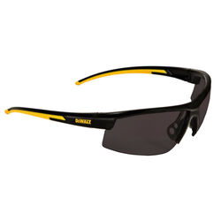 DeWalt  HDP  Polarized Safety Glasses  Smoke Lens Black/Yellow Frame 1 pc.