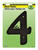 Hy-Ko  6 in. Black  Plastic  Screw-On  Number  4  1 pc.