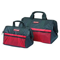 Craftsman 12.25 in. W x 17.5 in. H Ballistic Nylon Tool Bag Set Black/Red 2 pc.