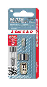 Maglite  Mag-Num Star II 3-Cell C & D  Xenon  Flashlight Bulb  Bi-Pin Base