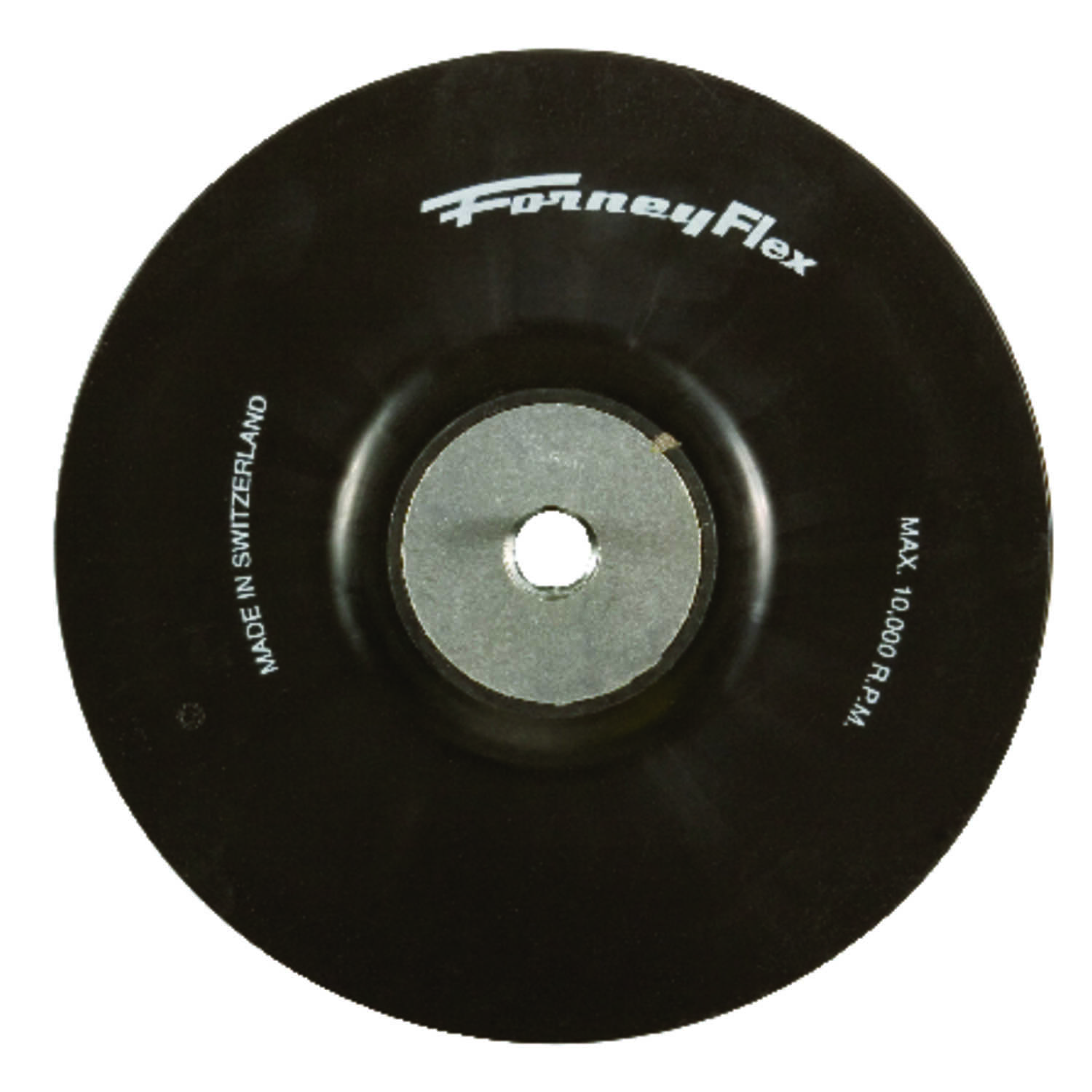 Forney  4-1/2 in. Dia. Rubber  Backing Pad  5/8 in.  20000 rpm 1 pc.