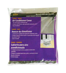 M-D Building Products  30 in. H x 34 in. W Polyethylene  Gray  Square  Air Conditioner Cover