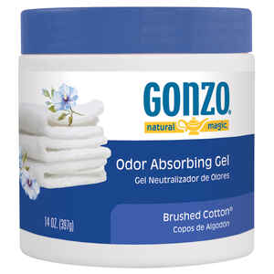 Gonzo  Natural Magic  Brushed Cotton Scent Odor Absorber  14 oz. Gel