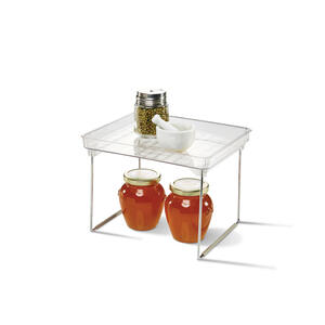 Madesmart  7.06 in. H x 7.72 in. W x 9.5 in. L Clear  Stackable Shelf