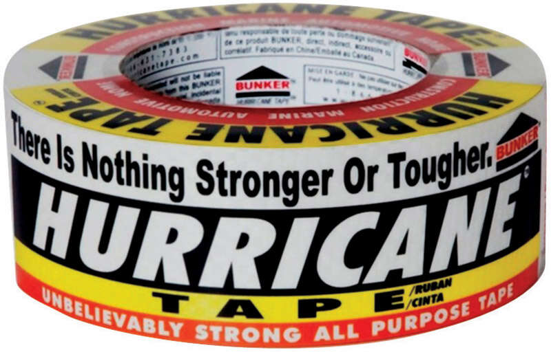 Hurricane Tape  60 yd. L x 1.88 in. W White  Duct Tape  White