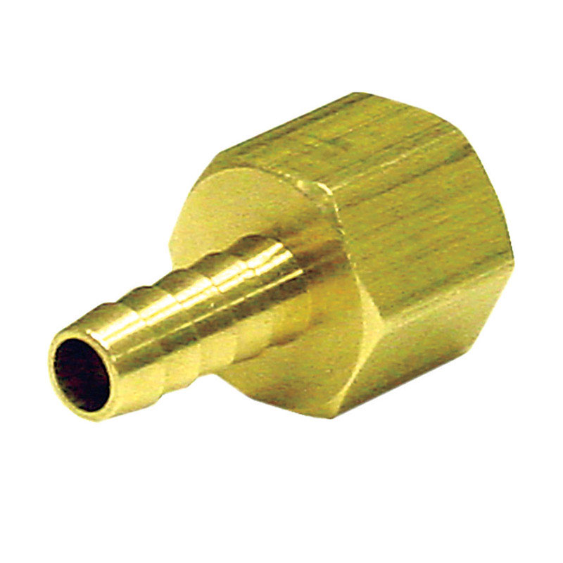 JMF  Brass  Hose Barb  1/2 in. Dia. x 3/8 in. Dia. Yellow  1 pk