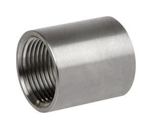 Smith-Cooper  1-1/2 in. FPT   x 1-1/2 in. Dia. FPT  Stainless Steel  Coupling
