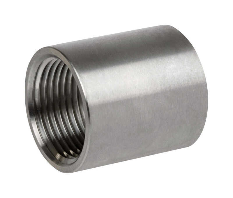 Smith Cooper  1-1/2 in. FPT   x 1-1/2 in. Dia. FPT  Stainless Steel  Coupling
