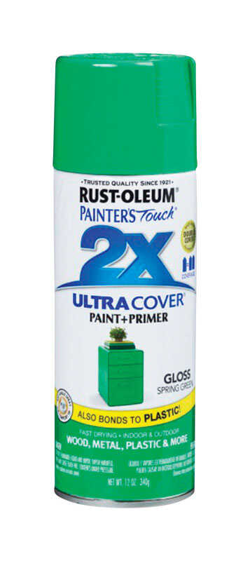Rust-Oleum  Painter's Touch  Gloss  Spring Green  12 oz. Spray Paint
