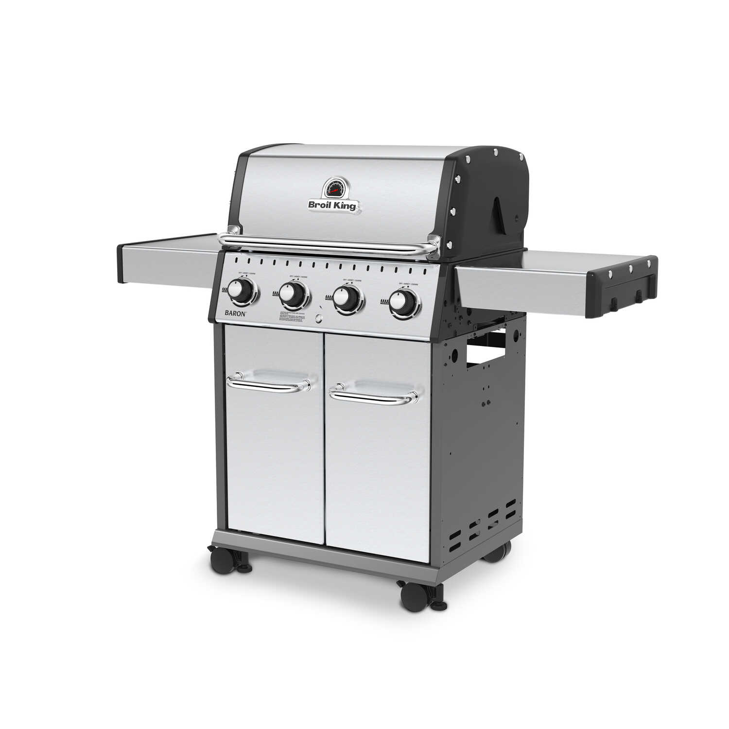 Broil King  Baron S420  Liquid Propane  Freestanding  4 burners Grill  Stainless Steel