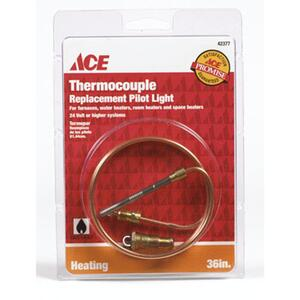 Ace  30 in. L 24 volt Millivolt Universal Thermocouple