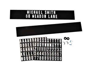 Hy-Ko  Black  Plastic  Rectangle  Mailbox Name/Address Kit
