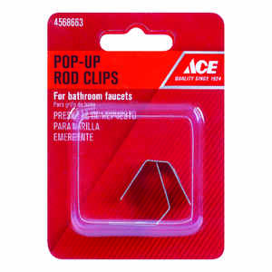 Ace  1/4 in. Dia. Pop-Up Rod Clips  Stainless Steel  Chrome