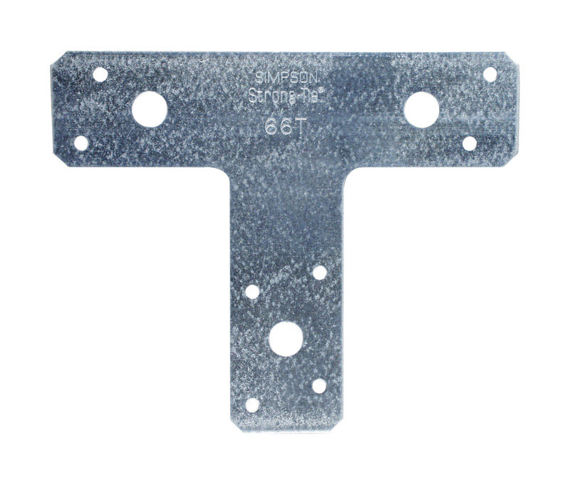 Simpson Strong-Tie  6 in. W x 1-1/2 in. W x 6 in. H 14 Ga. T Strap  Galvanized Steel