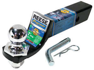 Reese  Towpower  Steel  Locking  2 in. 9 in. Ball Mount Lock