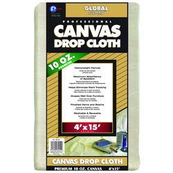 Premier GlobalGuard 4 ft. W x 15 ft. L 10 Canvas Drop Cloth 1 pk
