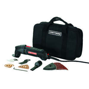 Craftsman  2 amps Keyless  Corded  19.2 volt Kit Black  1 pc. 3/8 in. 2 speed 19000 opm Multi-Tool