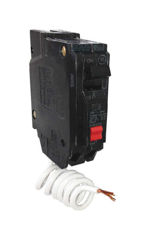 GE  20 amps Ground Fault  Single Pole  Circuit Breaker w/Self Test