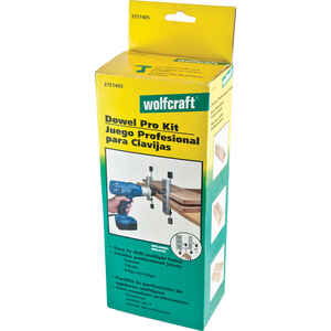 Wolfcraft  Aluminum  Doweling Jig  1/2 in. to 1-1/4 in. Silver  67 pc.