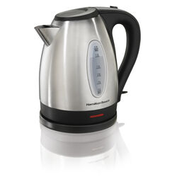 Hamilton Beach 1.7 L Black/Silver Electric Kettle