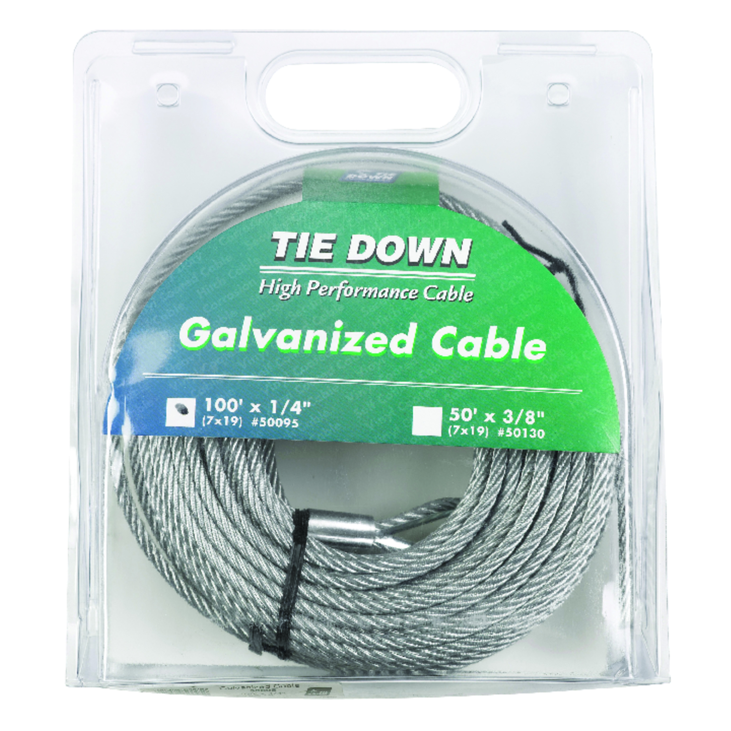 Tie Down Engineering  Galvanized  Galvanized Steel  1/4 in. Dia. x 100 ft. L Aircraft Cable