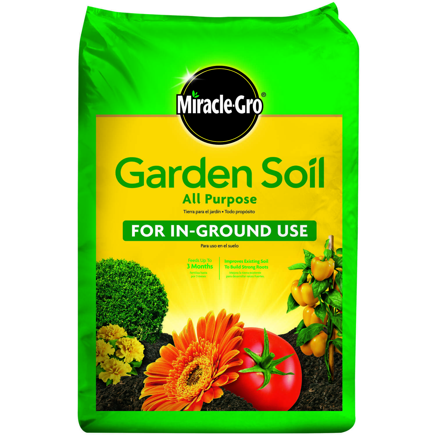 Miracle-Gro  All Purpose for In-Ground Use  Garden Soil  2