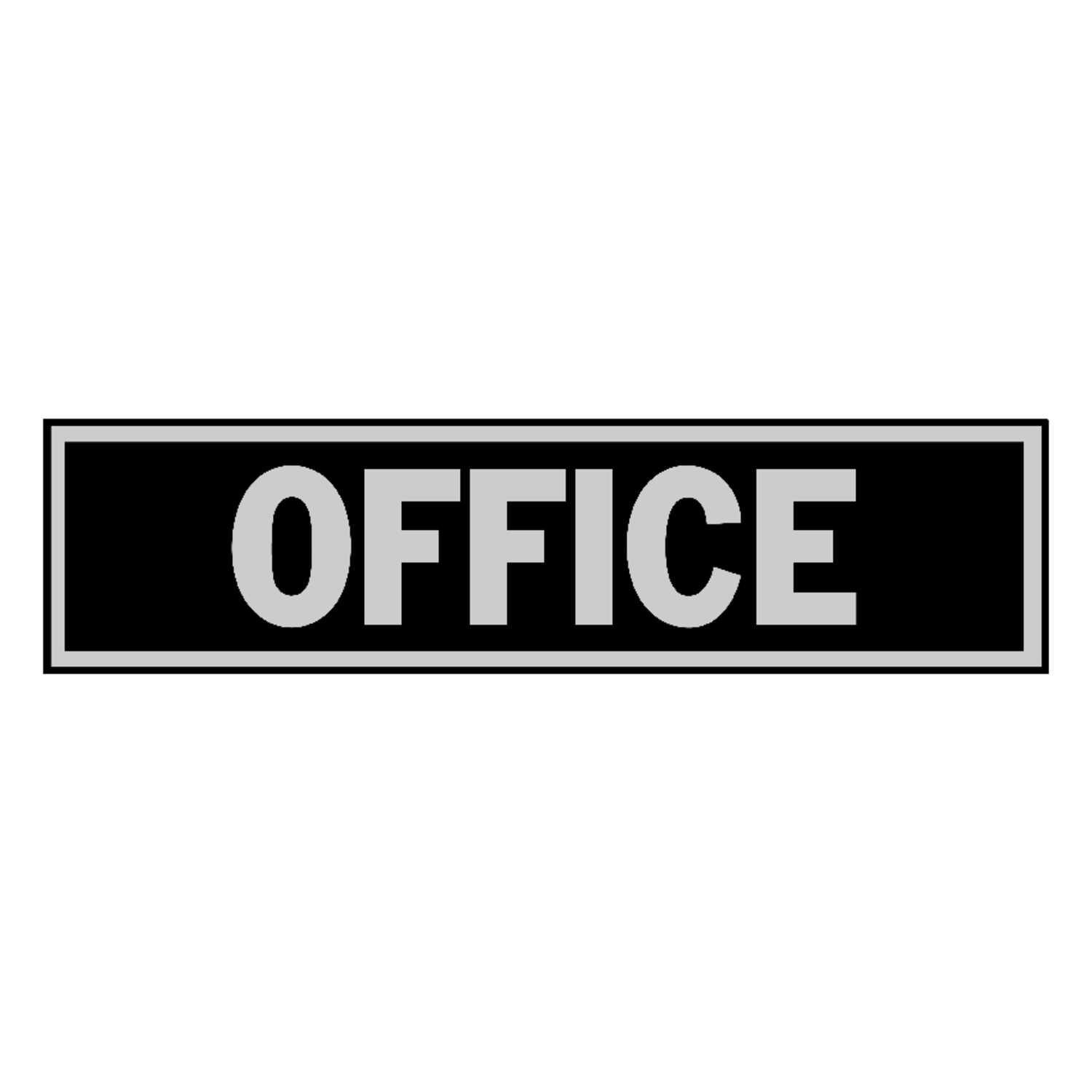 Hy-Ko  English  2 in. H x 8 in. W Sign  Office  Aluminum