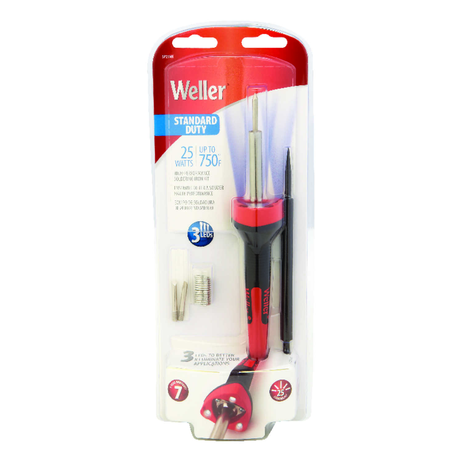 Weller  Cooper Tools  12.15 in. Corded  Soldering Gun Kit  25 watts Orange  1