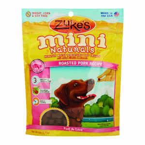 Zuke's  All Natural Mini  Roasted Pork  Dog  Treats  1 pk