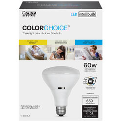 Feit Electric  Intellibulb COLORCHOICE  BR30  E26 (Medium)  LED Bulb  Multi-Colored  60 Watt Equival