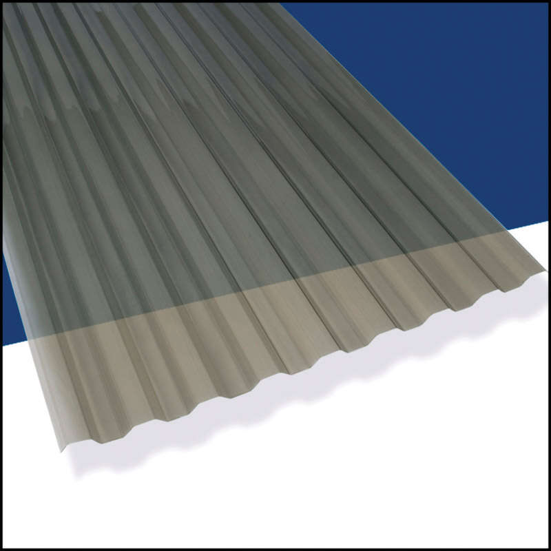 Suntuf 26 in. W x 96 in. L Polycarbonate Roofing Panel Solar Gray