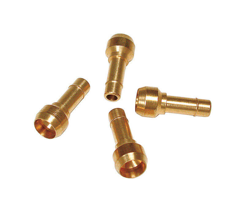 Dial  1/4 in. H Brass  Steel  Barbed Adapter