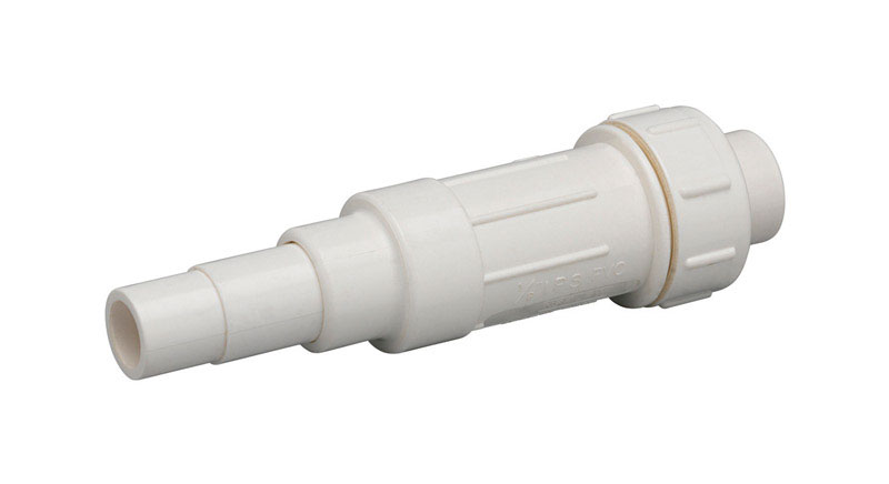 Homewerks  Schedule 40  1 in. Spigot   x 1 in. Dia. Slip  PVC  Expansion Coupling
